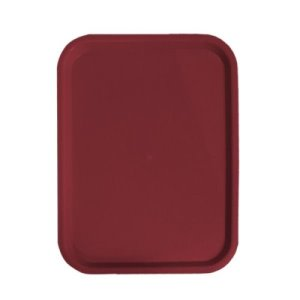 "Omcan Fast Food Trays 12""X 16""/ 305Mm X 406Mm Burgundy  (80099)"